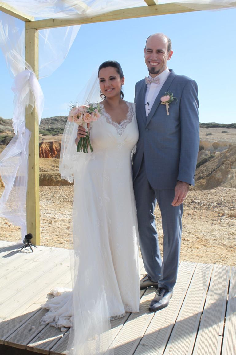 Costume de marié SAMSON / Robe de mariée Christophe-Alexandre Docquin / Chaussures J M Le Gazel